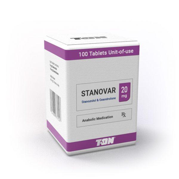Stanovar (Oxandrolone & Stanozolol) - 100 таблетки по 20 мг - Zob.BG