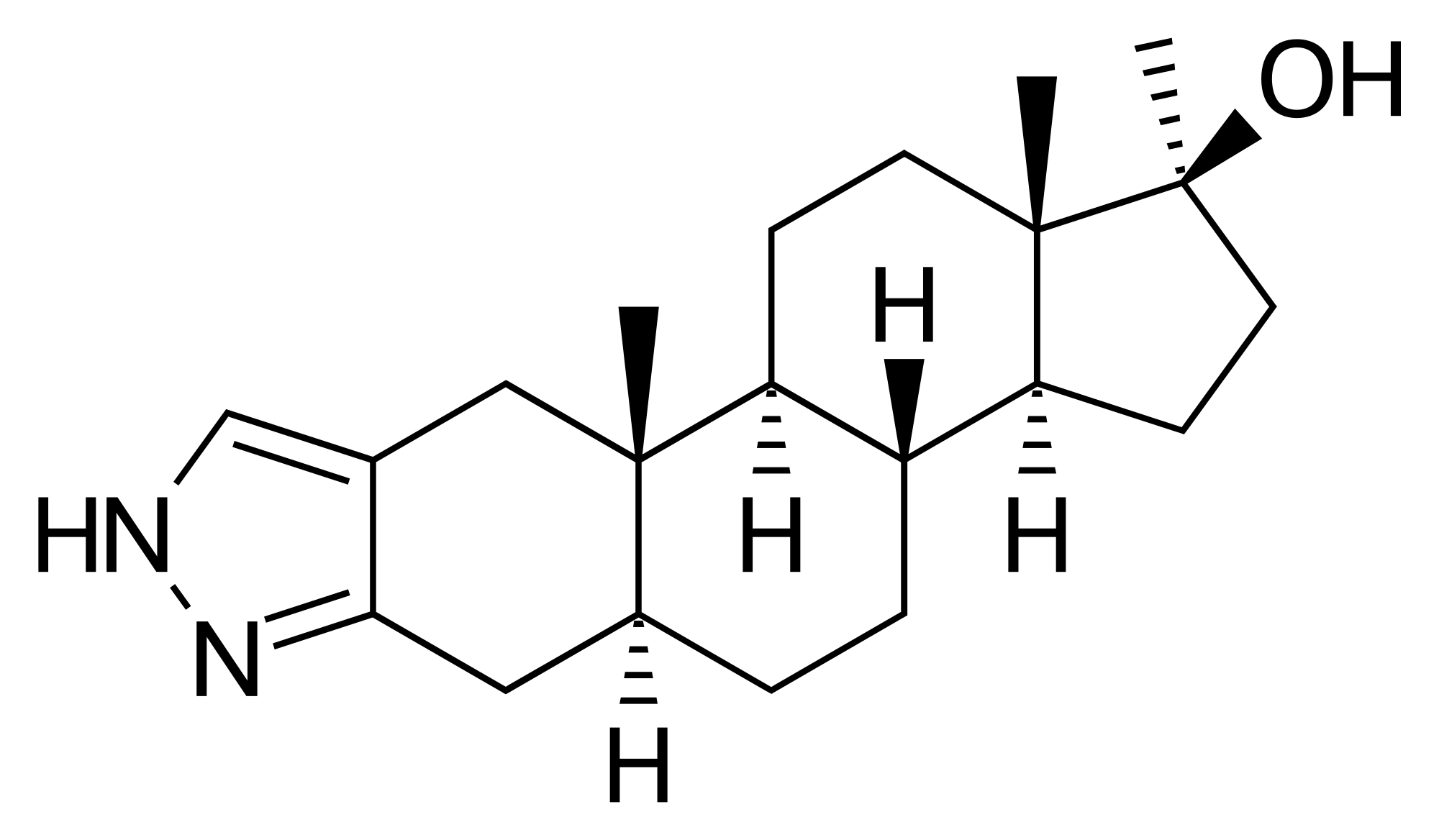 Структура на Станозолол - Zob.BG