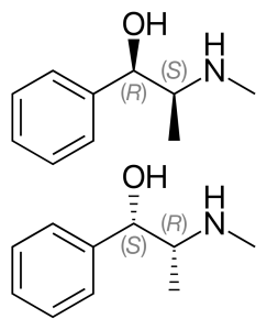 Химична структура на ефедрин