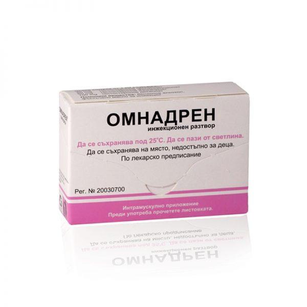 Омнадрен - 5 ампули тестостерон (4 съставки) - Zob.BG