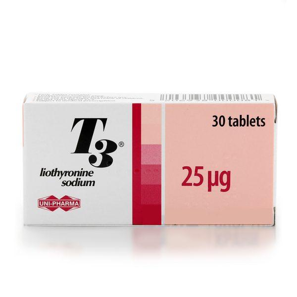 Т3 Гърция (Uni-Pharma), 30х25мкг Лиотиронин - Zob.BG
